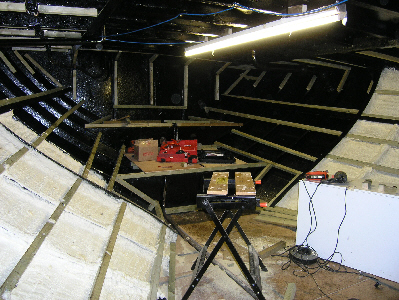 stern accomodation space during insulation